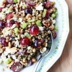 Lentil, grape, feta, walnut salad recipe