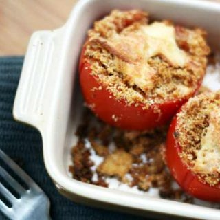 Smoked gouda stuffed tomatoes recipe: Such a delicious way to prepare tomatoes! Click through for recipe.