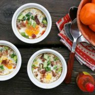 Tabasco baked eggs recipe, from Cheap Recipe Blog: One of the easiest egg dishes ever!