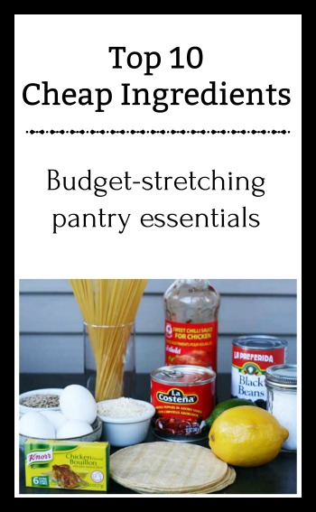 Top 10 Cheap Ingredients: Fill your fridge and pantry with these budget-stretching essentials. Click through for all 10 ideas.