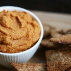 Chipotle hummus made with tahini (sesame paste)
