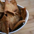 Homemade pita chips from leftover pita bread