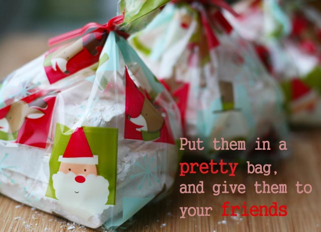 Homemade coconut marshmallows: Package them in a pretty bag and give them as a gift.
