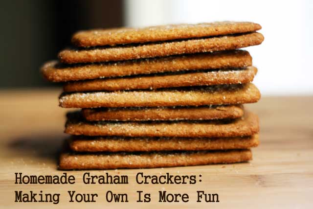 Homemade graham crackers! Better than the boxed kind. Repin to save!
