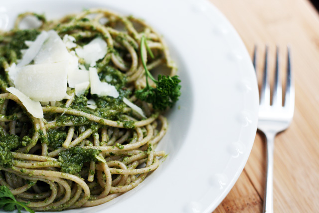 "Parsley pesto, also known as ""poor man's pesto"" because it'..."