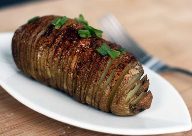 Hasselback potatoes recipe