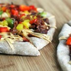 Barbecue bacon pizza: Zesty pizza with a BBQ sauce base. Repin to save!