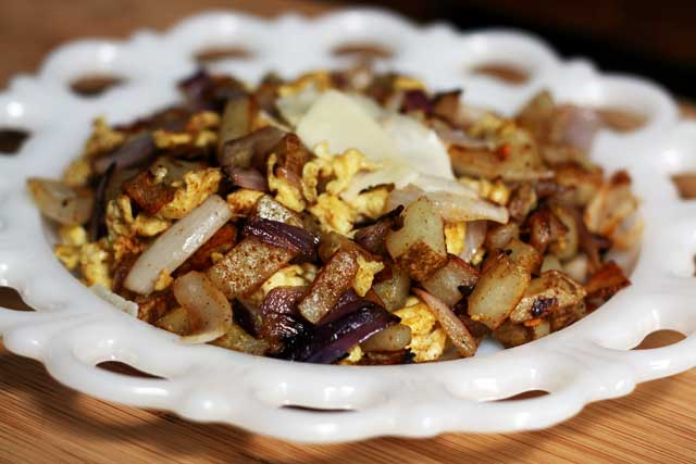 Recipes for fried potatoes and onions