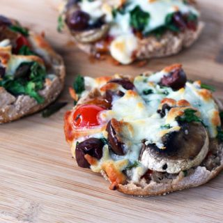 English muffin pizzas: Make pizza the easy way! Customize each pizza to your liking.