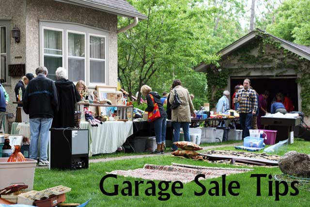 Tips for getting the best stuff at garage sales