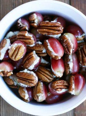 Pecan, Grape and Blue Cheese Bites Recipe
