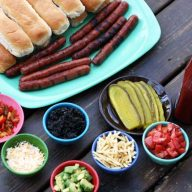 Build your own hot dog bar