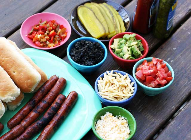 Gourmet Hot Dog Topping Ideas