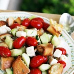 Panzanella salad: A bread-based salad with a tangy, flavorful dressing.