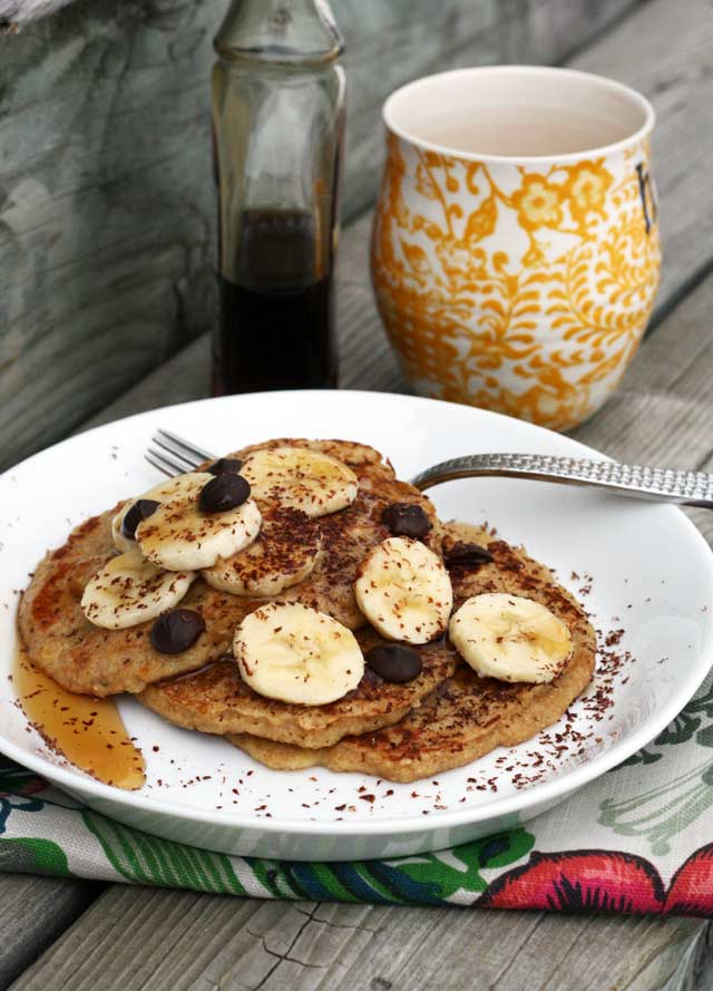 Banana oat pancakes recipe