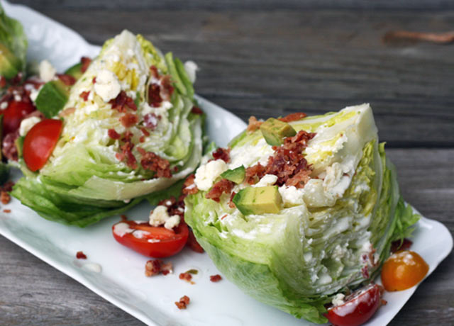 Cheap wedge salad recipe with blue cheese dressing