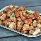 Parmesan almond crusted chicken bites recipe