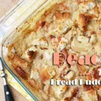 Peach Bread Pudding