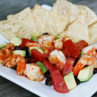 Shrimp ceviche nachos: The bright, bold flavors of ceviche, in a safe form. This recipe uses cooked shrimp!