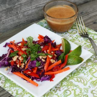 Thai peanut salad recipe: Super cheap, super flavorful and delicious!