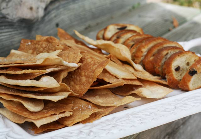 Make your own homemade crackers and crostini for your next party. And feed a crowd for LESS THAN $10!! Repin to save.