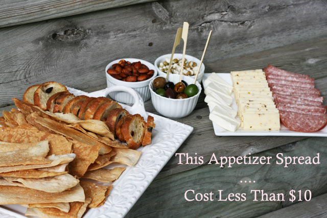 ALL THIS FOOD - for less than $10. Believe it. Repin to save and use for your next party.