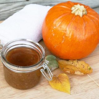 Pumpkin spice sugar scrub recipe. Learn how to make this beautifully scented scrub, perfect for a gift!