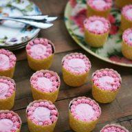 Moist dark chocolate cupcakes with raspberry buttercream frosting
