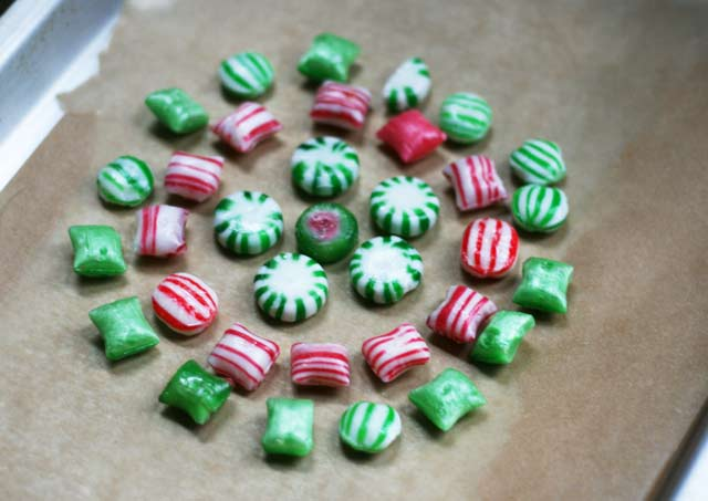 what happens when you put old fashioned christmas candy in the oven and bake it - Candy Christmas Ornaments
