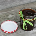 Salty hot fudge recipe. Makes a great gift. Easy to make. Click through for recipe!