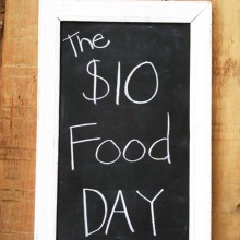 The $10 Food Day