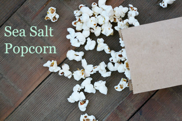 Sea salt popcorn recipe. Just 23 cents a batch!! Click through for recipe.