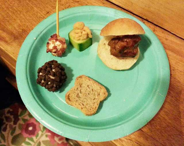 Tiny food party foods
