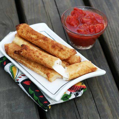 homemade wonton wrapper mozzarella sticks recipe