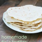 Homemade flour tortilla shells/burrito shells from Cheap Recipe Blog