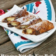 Banana-Nutella egg rolls recipe