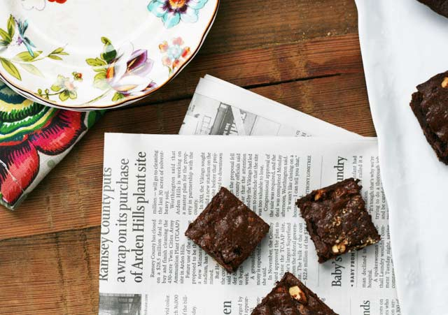 Brown butter and almond brownies recipe