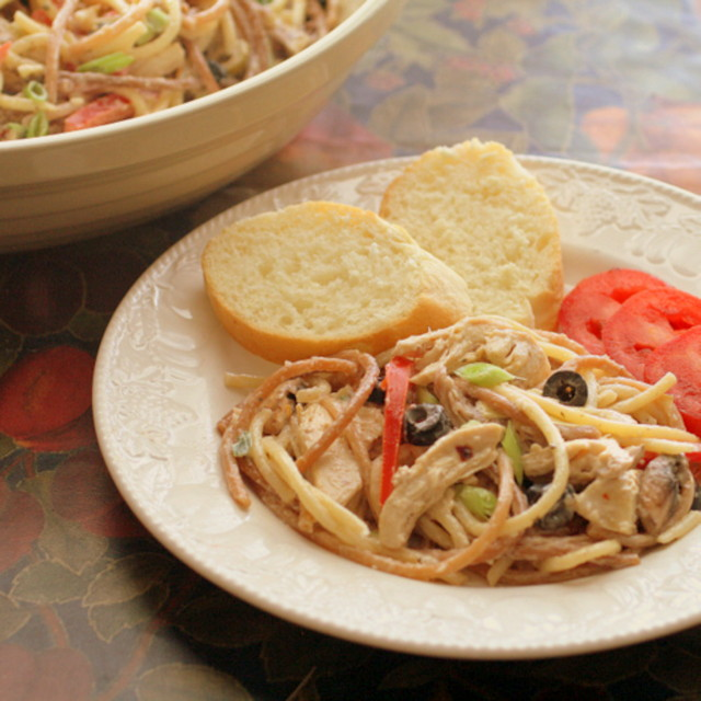 Chicken and spaghetti salad recipe