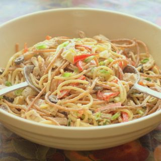 Chicken spaghetti salad recipe