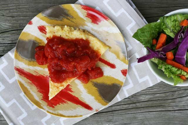 Pizza style polenta recipe