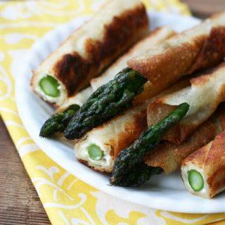 Asparagus-Cream Cheese Wonton Fries