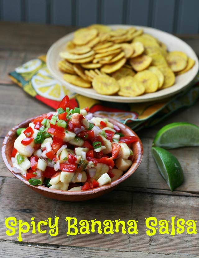 Spicy banana salsa recipe. If you like mango salsa, you'll love this stuff!