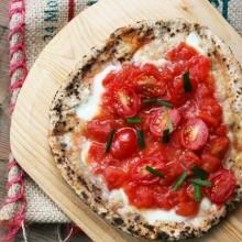 Bruschetta pita pizza recipe