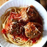 Pesto-Parmesan Meatballs
