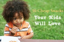 50 cheap snack ideas for children, from Cheap Recipe Blog