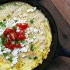 Corn and scallion chilaquiles recipe by Martha Stewart adapted by Cheap Recipe Blog