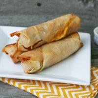 Cheesy Wonton Hot Dogs