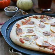 Oktoberfest pizza recipe, from Cheap Recipe Blog