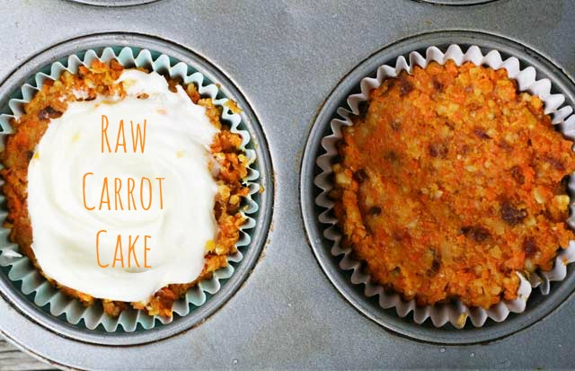 Raw carrot cake recipe: A unique spin on carrot cake. Healthier, and easier to make too!