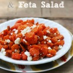 Roasted carrot and feta salad from Cheap Recipe Blog
